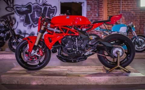 The Outlier's Guild Custom Motorcycle Show debuted in downtown Los Angeles May 6, with a new take on the traditional custom motorcycle. You were as likely to see metalflake Honda CB550s, semi-apocalyptic Triumphs and reinterpreted Ducatis as you were Harleys.