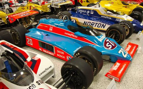 Indianapolis Motor Speedway Hall of Fame Museum. Photo by: Steve Shunch