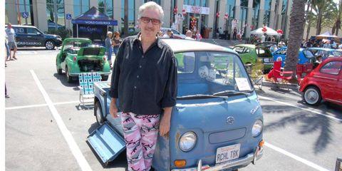 Roger Ward and his Subaru 360 pickup.