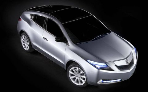 The Acura ZDX is a bit longer than the MDX crossover, but doesn't stand as tall as the RDX.