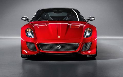 The front of this supercar is striking and sculpted for performance.