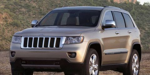 The edges are smoothed off, but the basic shape immediately says Jeep Grand Cherokee.