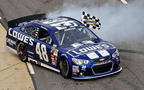 Jimmie Johnson, who won the NASCAR Sprint Cup Series race at Martinsville on April 7, was part of a big weekend of victories for Chevrolet.