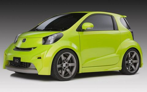 The Scion iQ is based on the Toyota city car of the same name in Europe.