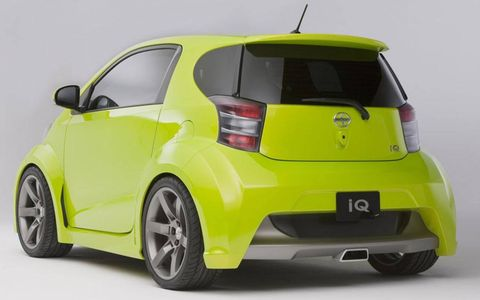 The Scion iQ has room for one small adult, or groceries, in the rear seat.