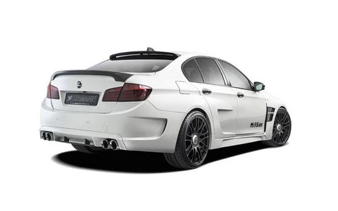 The Mission M5 gets almost all of its body replaced by Hamann.