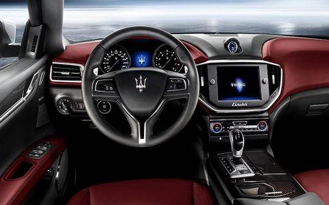 A view of the Maserati Ghibli's interior.
