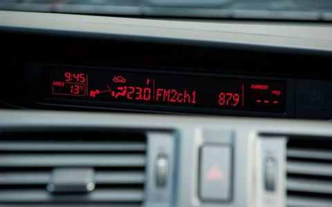 The in-dash display of the 2012 Mazda 5.