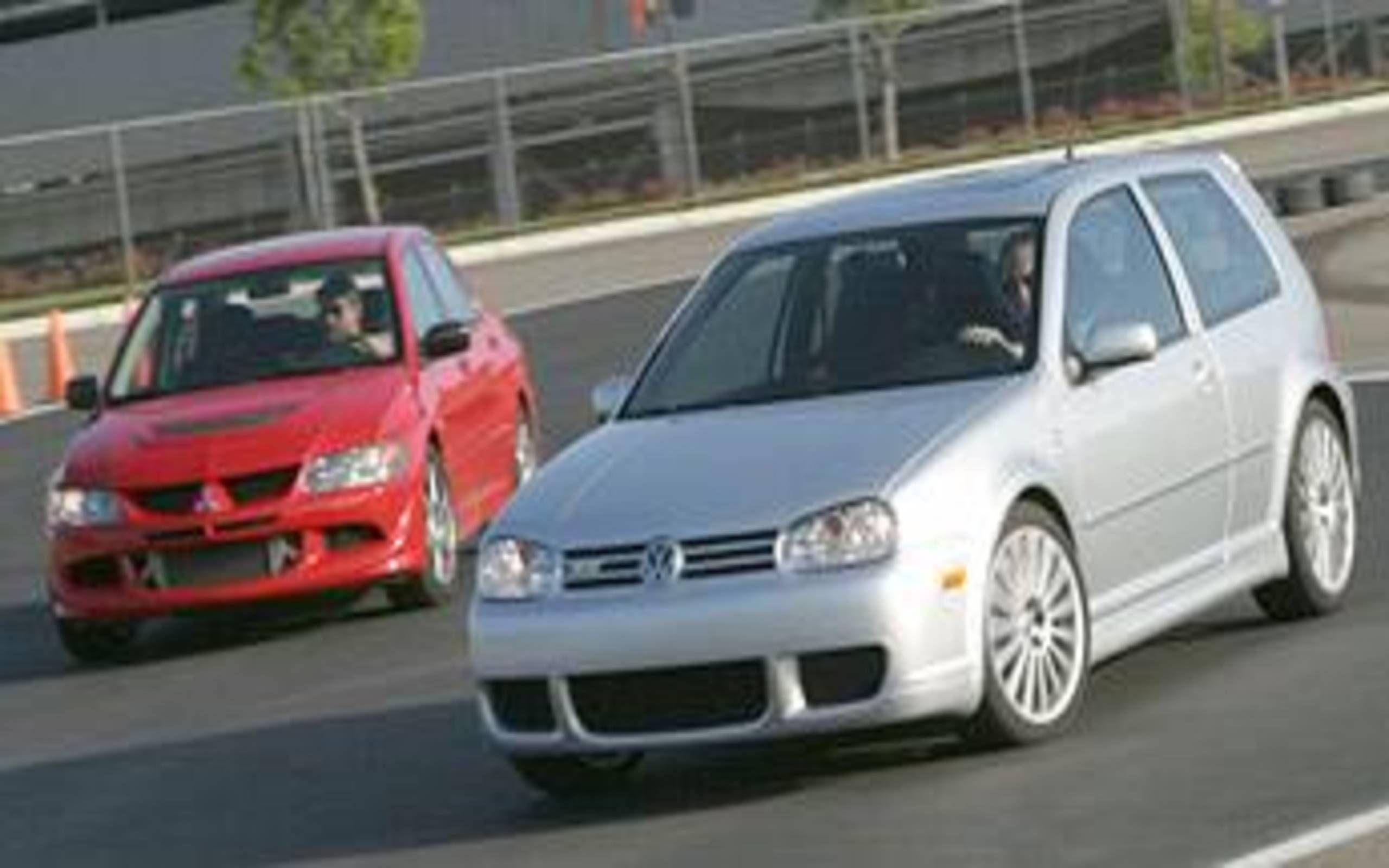 2004 mitsubishi evolution rs vs 2004 volkswagen golf r32 japan vs germany succeeds dearborn vs detroit vs 2004 volkswagen golf r32