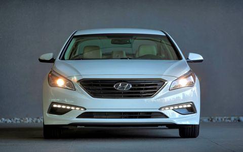 The 2015 Hyundai Sonata Eco's sub-200 hp output is more than ample.