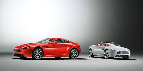 The 2012 Aston Martin V8 Vantage Coupe and Roadster