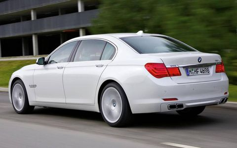 The BMW 760i will be available in standard- and long-wheelbase versions.
