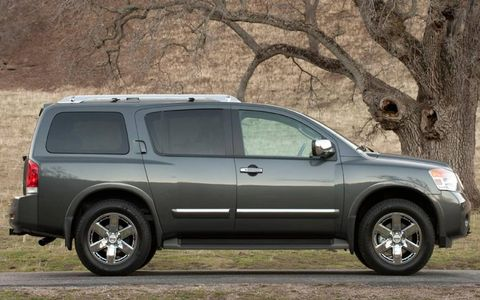 A side view of the 2012 Nissan Armada.