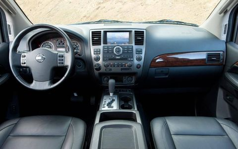 The instrument panel of the 2012 Nissan Armada.