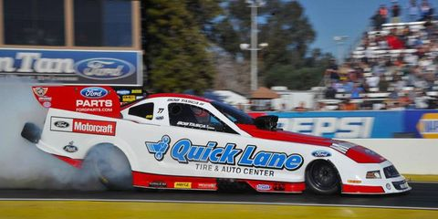 Bob Tasca III is 10th in the NHRA Funny Car points.