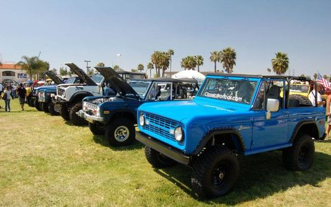 A row of Ford Broncos