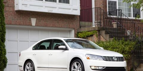 The 2013 Volkswagen Passat TDI SEL has a sharp exterior appearance.
