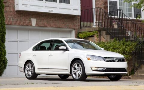 The 2013 Volkswagen Passat TDI SEL has a sharp exterior appearance.