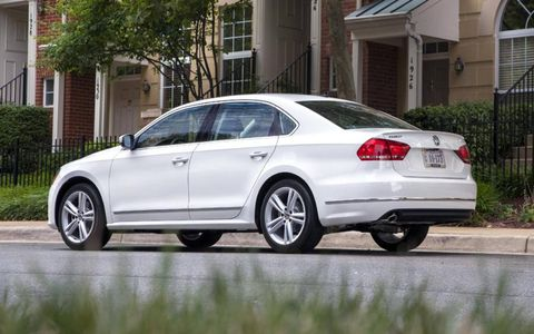 The 2013 Volkswagen Passat TDI SEL comes in at a base price of $33,710.