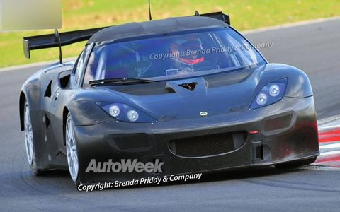 Lotus Evora GT2 spied