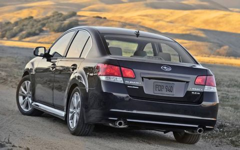 The 2013 Subaru Limited 3.6R shifts seamlessly through all five gears, while putting power down in the all-wheel configuration.