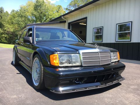 The Frankenstein Benz may look like a DTM-spec 190E, but underneath lies the chassis and powertrain from a C63 AMG.