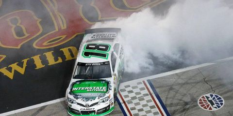 Kyle Busch won both the NASCAR Nationwide Series race on Friday and the Sprint Cup Series race on Saturday at Texas Motor Speedway.