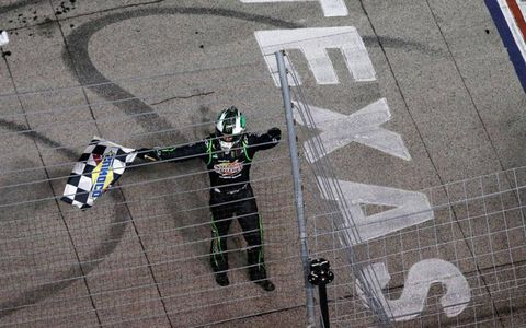 Kyle Busch waved the checkered flag twice this weekned at Texas Motor Speedway.
