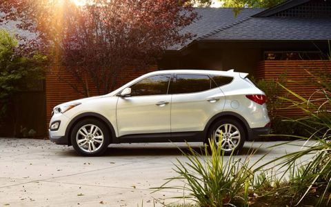 The 2013 Hyundai Santa Fe Sport is a great value with a base price of $30,275.