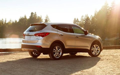 A noteworthy feature of the 2013 Hyundai Santa Fe Sport is the panoramic sunroof that allows for ample interior lighting.