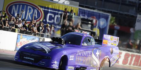 Beckman's pass of 3.854-seconds at 335.57 mph clenched his first No. 1 qualifier of the season.