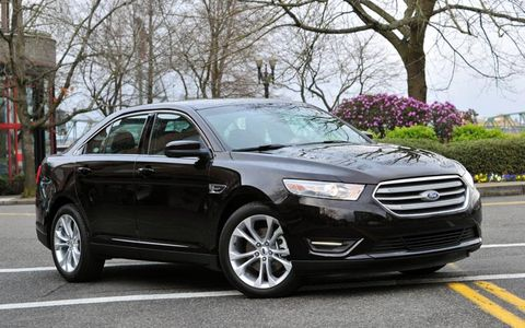 Our 2013 Ford Taurus SEL tester was powered by a turbocharged 2.0-liter engine making 240 hp and 270 lb-ft of torque.