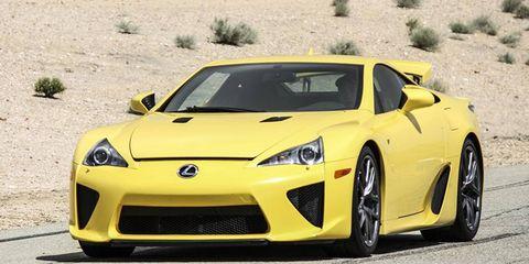 Lexus LFA on a racetrack. Tough assignment.