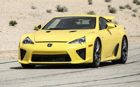 Lexus LFA on a racetrack. Tough assignment.