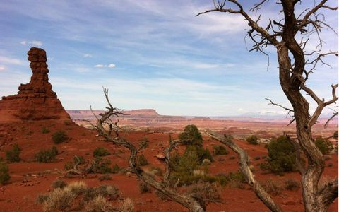 Chimney Rock in Canyonlands National Park is about as remote as you can get. The only way to get there is by Jeep.