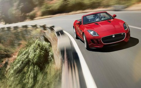 All three models of F-Type come with a ZF eight-speed automatic.
