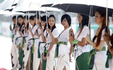 Uniform, Umbrella, Youth, Black hair,