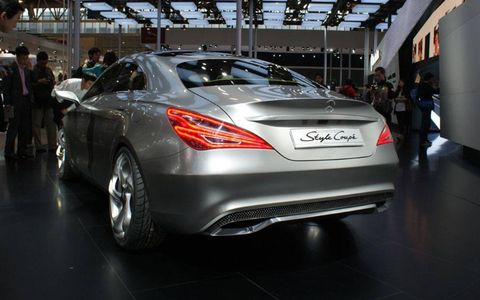 The rear of the Mercedes-Benz A-class concept at the Beijing motor show.