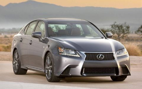 The 2013 Lexus GS 350 F Sport is available in an all-wheel and rear-wheel drive configuration.