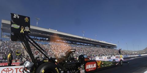 McMillen raced to his first winner's circle with a pass of 3.870-seconds at 253.99 mph.