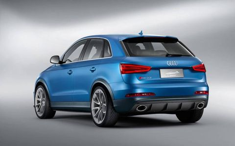 A one-inch reduction in ride height and upgraded 20-inch multispoke wheels also help set the Audi RS Q3 apart, endowing it with a more hunkered stance than existing Q3 models.