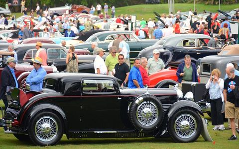 Richard and Irina Mitchells 1930 Stutz M Supercharged sits amongst the field at the 6th annual Boca Raton Concours de E'legance.