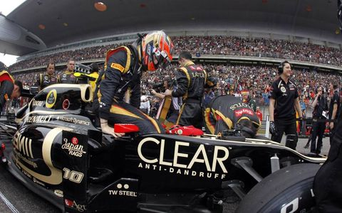 2012 Chinese Grand Prix: Romain Grosjean, Lotus GP