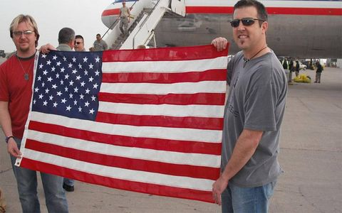 Symbolism is important for Operation Iraqi Children, and there's no greater image than the Stars and Stripes.