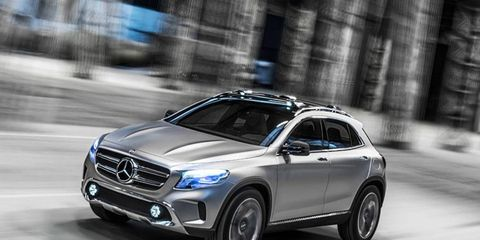 The Mercedes-Benz GLA concept, which is set to be revealed at the Shanghai auto show, previews the upcoming entry-level GLA compact SUV.