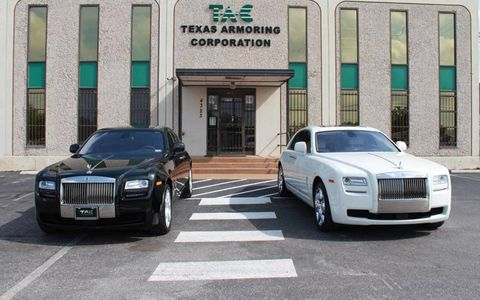 Two Rolls-Royce Ghosts from TAC for customers looking to protect themselves.