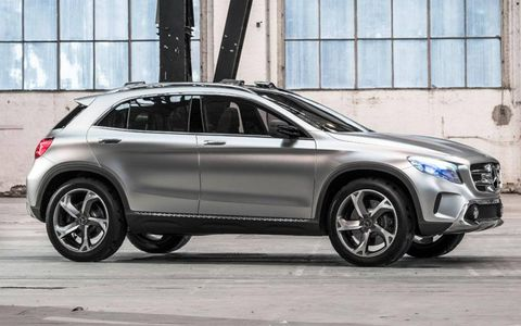 Mercedes-Benz officials claim the new GLA will be more sporty and coupe-like than its existing SUVs. It shares a platform with the second-gen B-class, third-gen A-class and CLA sedan.