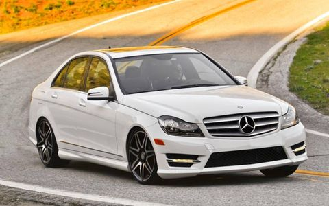 The 2013 Mercedes-Benz C300 4Matic sedan is powered by a 3.0-liter V6 making 248 hp and 251 lb-ft of torque.