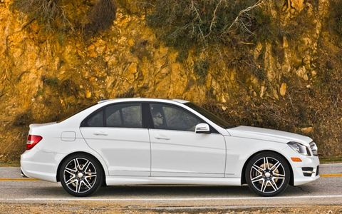The 2013 Mercedes-Benz C300 4Matic sedan is rated at 20 mpg in the city and 28 mpg on the highway.