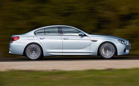 Like the BMW M5, the M6 Gran Coupe has four doors -- though with its 197 inch length, it is a bit longer.